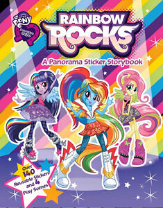 NEW My Little Pony Equestria Girls: Rainbow Rocks! Sticker Book