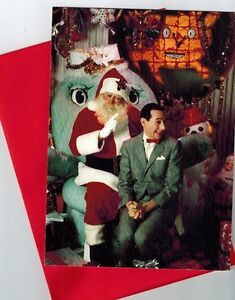 box of 12 NEW Pee Wee Herman Christmas Cards w/ envelopes