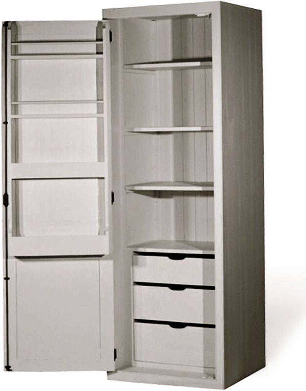 Tall larder cabinet b q bar cabinet for Tall kitchen drawer unit