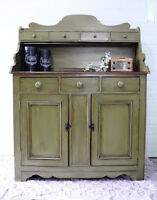 Refinished antique hutch/cabinet