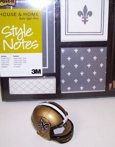 New Orleans Saints Mini Transformer Helmet and Post It Note Set London Ontario image 1