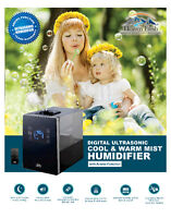 Digital Ultrasonic Humidifier with Aroma Essential Oils