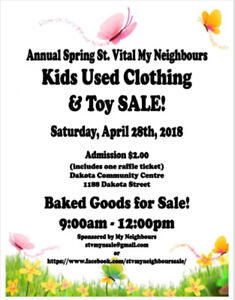 Annual Spring St. Vital My Neighbours Sale