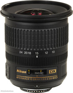 Nikkor 10-24mm 3.5-4.5 DX G ED, with hood & caps