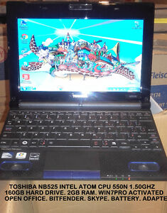 $159 Toshiba NB525 Laptop For Sale......free bag, free mouse