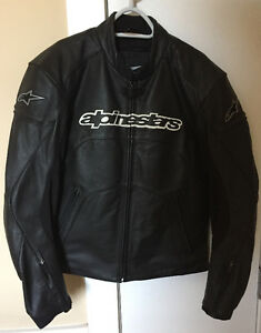 Women's Alpinestars high end leather motorcycle jacket