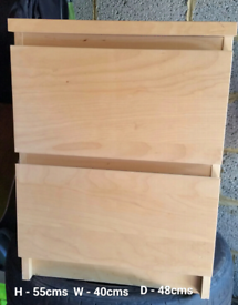 Pair of Malm bedside cabinets REDUCED