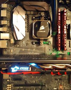 Combo - Ryzen 1600, 16GB DDR4, Asus B350-F Strix, Liquid Cooler