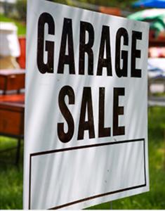 Garage sale happening tomorrow