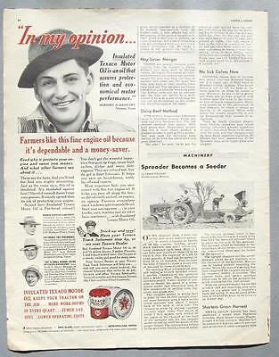 10x14 Orig 1941 Texaco Ad Photo endorsed by Herbert Haseloff of Vernon Texas