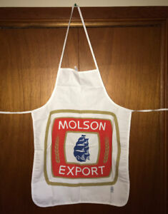 Rare Molson Export Canadian Beer Advertising Bar Apron