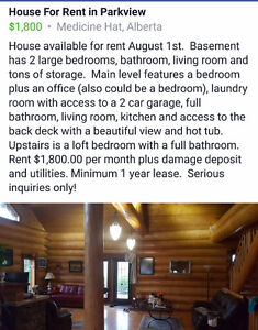 House for rent in Parkview