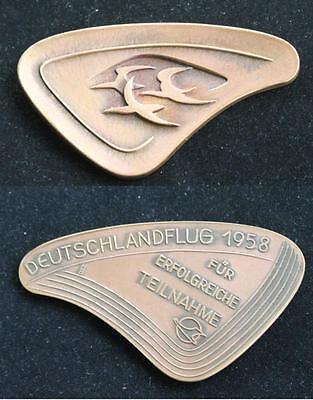 Original Teilnahme Abzeichen / Medaille / Plakette / Deutschlandflug 1958