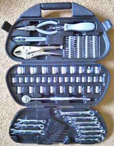 97-Piece Tool Kit w/ Socket Wrench Set, Driver/Bit Set, Wrenches