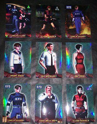 RESIDENT EVIL Trading Cards CHROMIUM INSERT SET! Ultra Rare! Complete 9 card Set