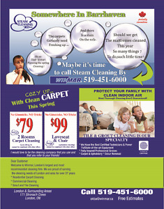 Carpet Cleaning. Steam Cleaning By Winmar, London, ON London Ontario image 1