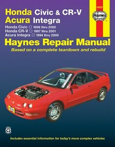 Haynes: HONDA CIVIC & CR-V, ACURA INTEGRA Repair Manual