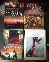 Freedom novel Abe Lincoln Cival War and 4 dvds