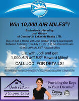 Enter to Win 10,000 Air Miles