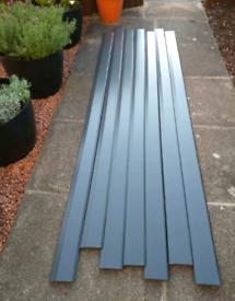 7 x roomline chamfered PVC skirting board grey