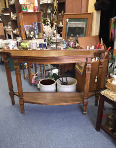 SUMMER SALE OLDER WOOD HALL TABLE 20% OFF NOW $80.00