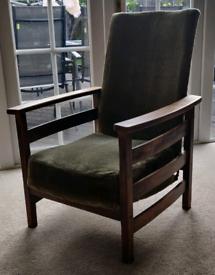 Vintage retro reclining chair