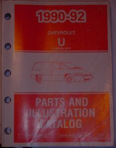 1990 - 1992 Chevrolet  Lumina APV parts & illustrations catalog