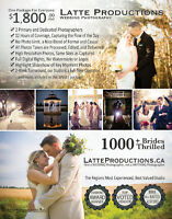 Wedding Photography, 2 Photographers,12hrs,1000+ Brides Thrilled