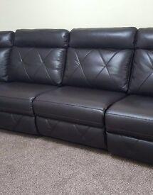 Leather Corner Saddle Brown Sofa BRAND NEW
