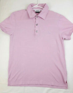 VERSACE COLLECTION Men Casual Polo Short Sleeve Shirt Size Small