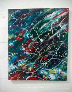 Original acrylic painting on canvas by artist Trina Fanchette.