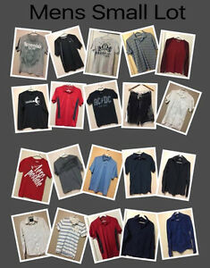 Mens S/M Brand name clothing Lot