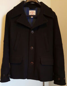 Rare and Warm Brooks Brothers Red Fleece Collection Peacoat
