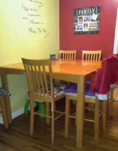 Pub Style Table and 8 chairs