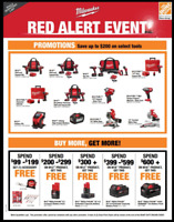 ***MILWAUKEE RED ALERT EVENT !!!*** --WHITBY S HOME DEPOT--