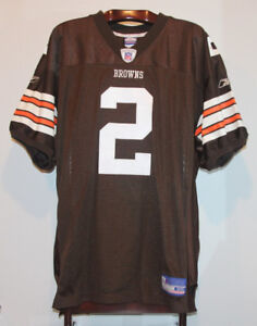 REEBOK AUTHENTIC TIM COUCH SIGNED CLEVELAND BROWNS JERSEY 50