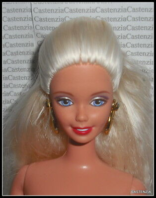 NUDE BARBIE MATTEL HALLOWEEN PARTY  CRIMPED BLONDE BLUE EYES DOLL FOR OOAK