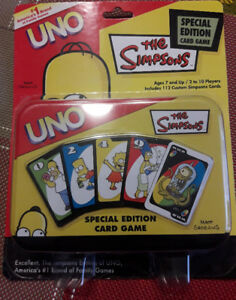 The Simpsons Uno Special Edition Card Game - Comes in a Tin $20