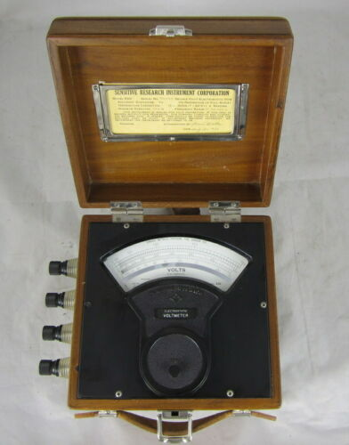 Vintage Electrostatic Voltmeter Sensitive Research Instrument Corp. Tested Works