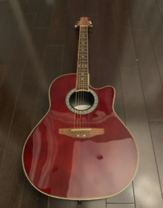 Cherry Red Ovation - Acoustic/Electric Guitar