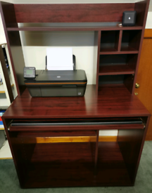 Mahogany Veneer Computer Desk/Workstation Furniture