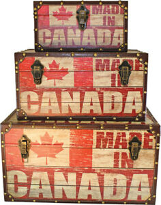 Canada Print Steamer Trunks