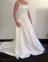 Mori Lee Strapless A-line Embroidered Rhinestone Detail, size 6