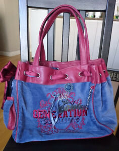Juicy Couture Daydreamer Velour Tote / Purse / Bag