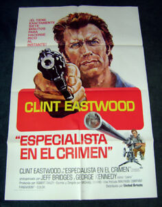 1974 CLINT EASTWOOD THUNDERBOLT & LIGHTFOOT Spanish movie poster