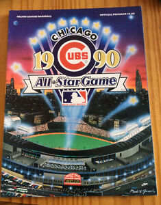MLB 1990 ALL-STAR GAME PROGRAM, WRIGLEY FIELD, CHICAGO West Island Greater Montréal image 1
