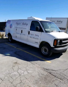 Cargo van, freezer unit. Cooler