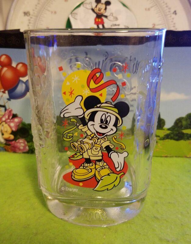 Disney Glass Cup McDonalds Millennium Celebration Mickey Mouse Animal Kingdom