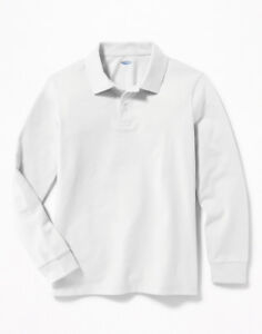 Old Navy white long sleeve polo shirt
