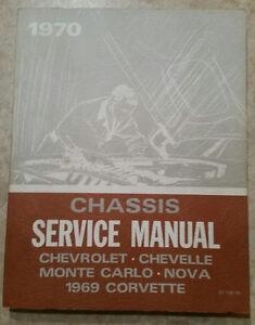 1969-1970 Corvette, Chevelle, Nova, etc. Chassis Service Manual